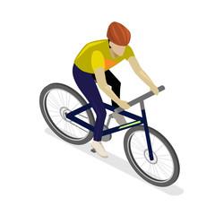 Isometric flat cyclist