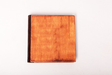 Brown leather wedding photo book albums