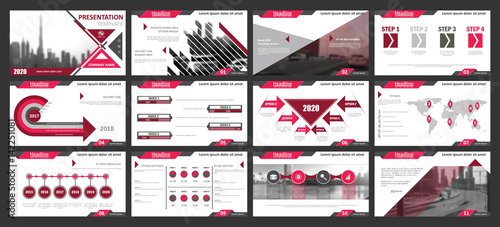Creative set of abstract infographic elements. Modern presentation ...