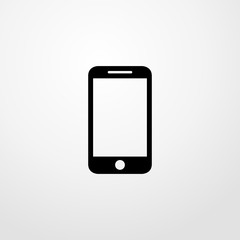 cellphone icon illustration isolated vector sign symbol