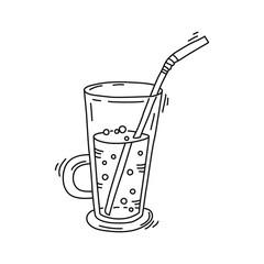 glass jar with lemonade
