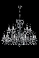 luxury chandelier on black background.