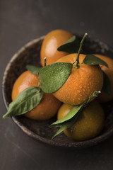 Bowl of whole oranges
