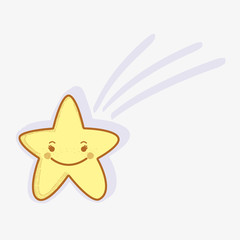kawaii happy star icon