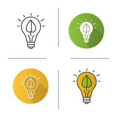 Eco energy concept icon