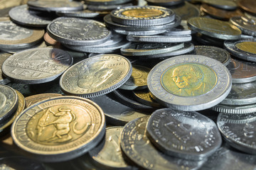 Background of the coins  pile