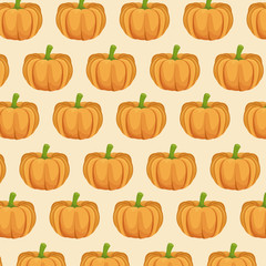 pumpkin nutrition seamless pattern image vector illustration eps 10