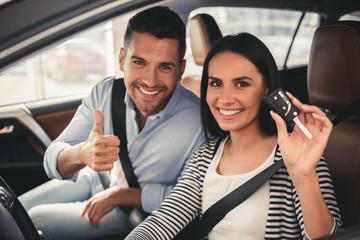 Visiting car dealership - fototapety na wymiar