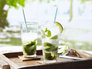 Mojito cocktails in glasses