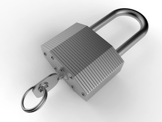 3D render - detailed padlock
