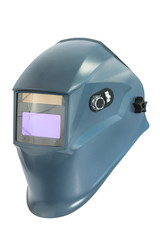 Blue protective mask for welding