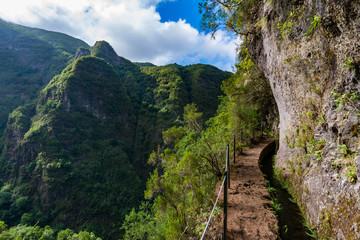 Madeira mountain hiking path.