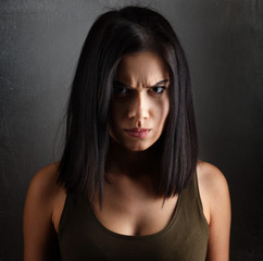 Angry evil woman