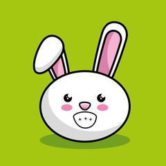 cute rabbit character kawaii style vector illustration design