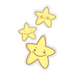 kawaii, happy stars expression