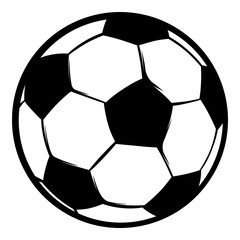 Football ball icon, icon cartoon