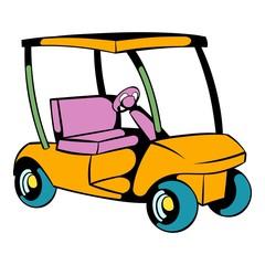 Golf car icon, icon cartoon