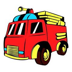 Fire truck icon, icon cartoon