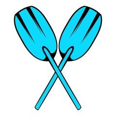 Paddle icon, icon cartoon