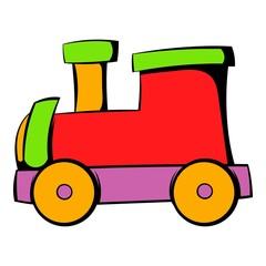 Children locomotive icon, icon cartoon
