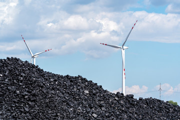 Pile of carbon and the windmill