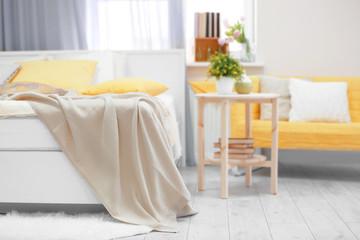 Interior of comfortable bedroom