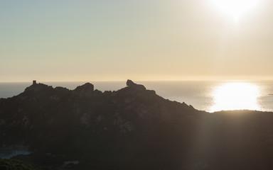 Coucher de soleil sur Roccapina