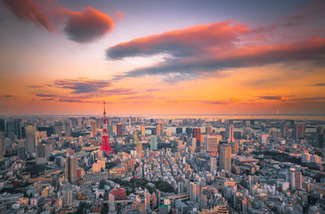 Wonderful sky, Tokyo