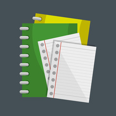 notebook school supply icon vector illustration design