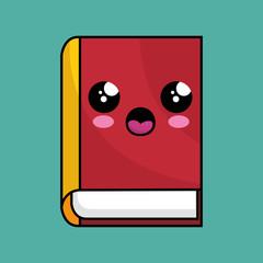 text book school character kawaii vector illustration design
