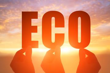 hand take eco word