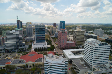 Aerial shot of Downtown Fort Lauderdale Florida