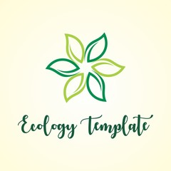 GREEN LEAF ECOLOGY AGRICULTURE LOGO TEMPLATE