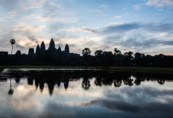 Stunning sunrise over Angkor Wat in Siem Reap, Cambodia