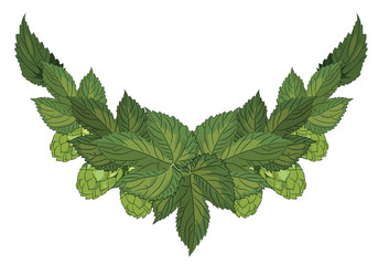 Leaves and hop cones, Design