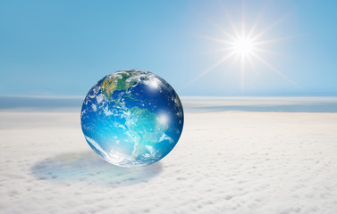 """The world on the cloud """"Elements of this image furnished by NASA"""""""