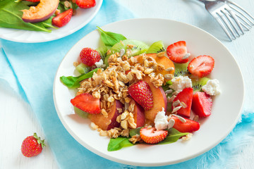 fruit salad with homemade granola