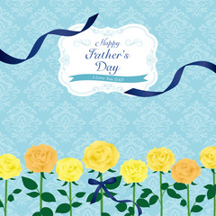 父の日 黄色のバラのカード