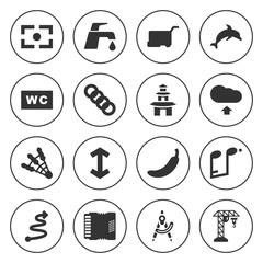 Set of 16 symbol filled icons