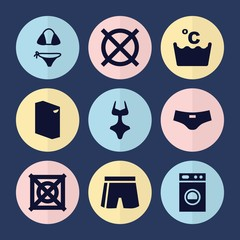 Set of 9 clothes filled icons