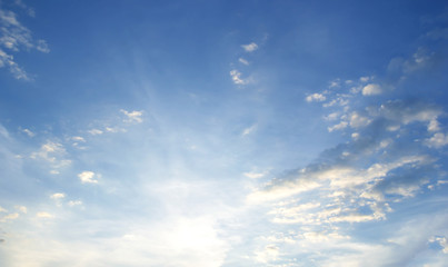 sky Blue white clouds Abstract nature background