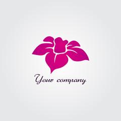 pink flowers logo
