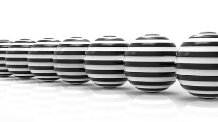 Abstrakcyjne kule na białym tle