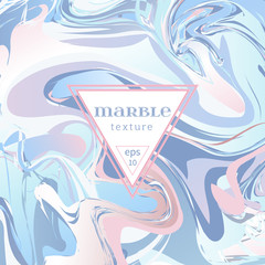 Vector marble texture. Mix of blue and pink paints.