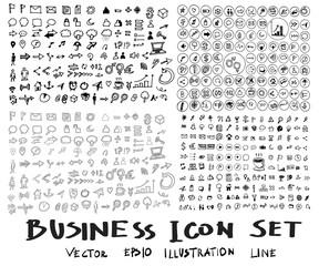 Business arrow bubble set  doodles eps10