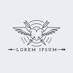 Logo in outline style