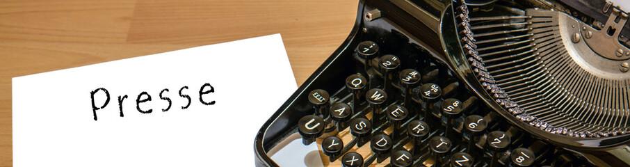 Presse Alte Schreibmaschine