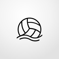 water volleyball ball icon illustration isolated vector sign symbol