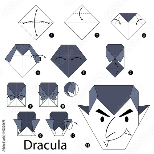 Step By Instructions How To Make Origami Dracula