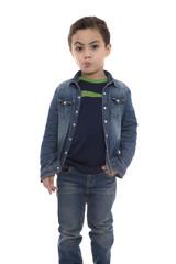 Young Doubtful Boy